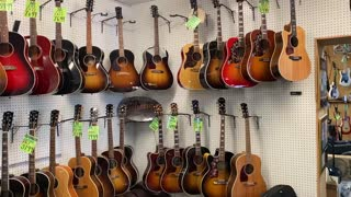 Gibson Left Handed Guitars on Display
