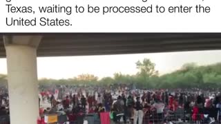Overwhelmed Border Patrol - Migrants By The 1000's Waiting To Get Into The US.