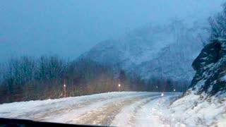 Beautiful Drive Through Tromso Outskirts