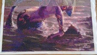 Mermaid diamond art progress