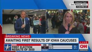CNN coverage of Iowa caucus
