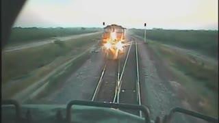 Head on Train Crash Footage