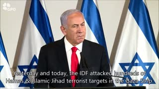 Netanyahu Says Hamas And Islamic Jihad Will 'Pay A Heavy Price For Their Aggression'