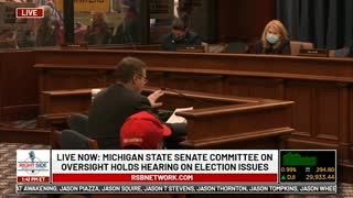 Witness #24 testifies at Michigan House Oversight Committee hearing on 2020 Election. Dec. 2, 2020.