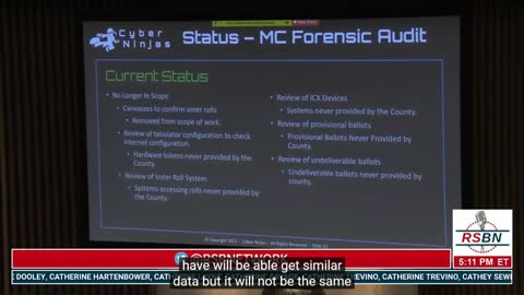 Arizona Maricopa Audit Repport at Senate full video September 24th 2021