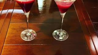 Blood orange martinis