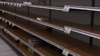 Grocery store completely depleted after Coronavirus outbreak in Milan