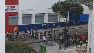 Pese a confinamiento, se registra protesta en Bucaramanga este sábado