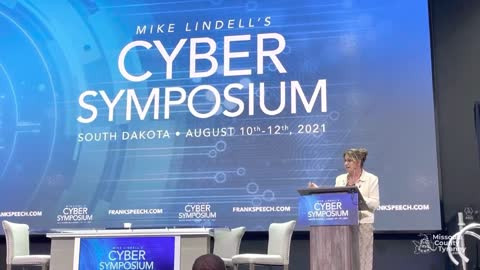 Montana State Rep Theresa Manzella speaks at Lindell's Cyber Symposium