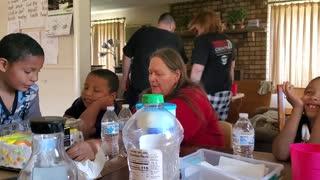 Great Grandma and kids