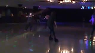 Daughter skating