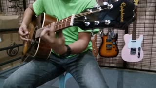 Unboxing Guitar Acoustic Brand Epiphome DR100
