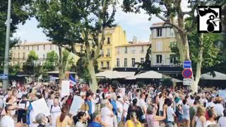Paris, France: Huge Protests Against Vaccine Passports 7-30-21
