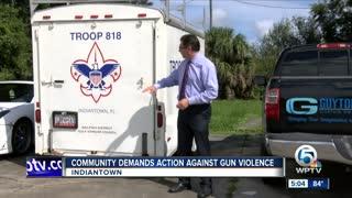 Community demands action against gun violence