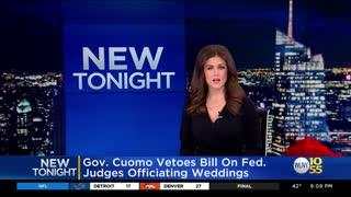 NY Gov. Cuomo vetoes bill because of Trump