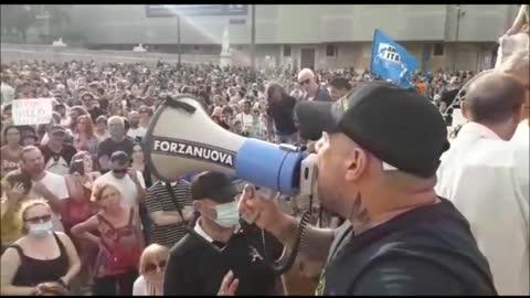 """Roma: manifestazione """"no green pass"""", siamo leoni!"""