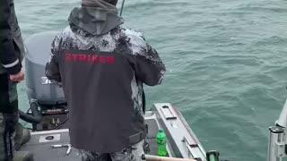 Lake trout while walleye fishing
