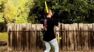 Guy Shows Off Incredible Nun chuck Skills