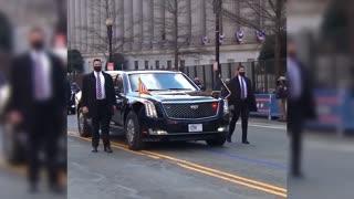Biden's inauguration day.. Empty streets in Washington DC