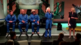 'I want to go again, fast' -Wally Funk after space flight ..!!!