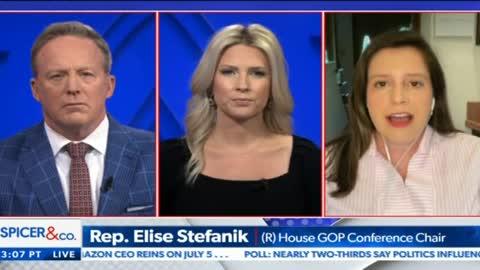 Elise Stefanik joins Sean Spicer and Lyndsay Keith on Newsmax. 05.26.21