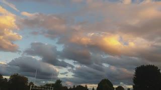 After sunset beautiful Cloud