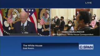 Reporter Asks RIDICULOUS Softball Question In Biden's First Press Briefing