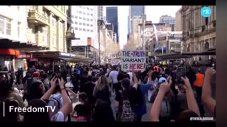 Australian super lockdown protest