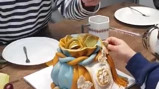 Grandfather's Amazing Money Birthday Cake!!!