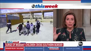 Pelosi FINALLY Acknowledges Border Crisis... Blames Trump