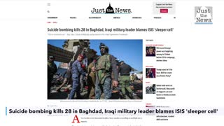 Suicide bombing kills 28 in Baghdad, Iraqi military leader blames ISIS 'sleeper cell'