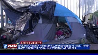 President Trump slams Biden for 'spiraling tsunami' at border