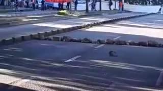 Caos vehicular en Bucaramanga por protesta del Paro