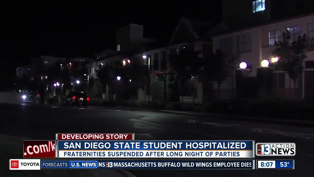 Fraternities at San Diego State suspended