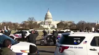 Police procession for officer killed in riot