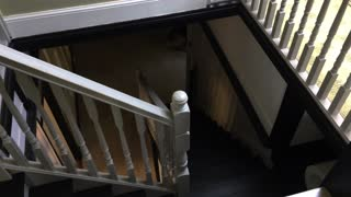 Ghost caught on camera on haunted staircase