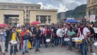 paro en la plaza de Bolívar
