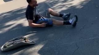 Quad Crashes After Failed Wheelie Attempt