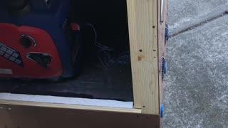 Generator box, prepping for catastrophe