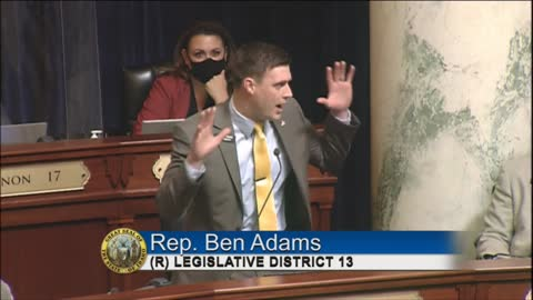 """Conservative Idaho lawmakers Ben Adams delivers fiery speech: """"The People are awake."""""""