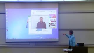 Math Professor Fixes Projector Screen*