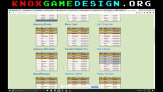Structured Data Tool – Knoxville Game Design, March 2017