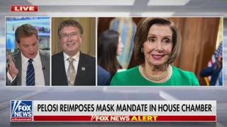 GOP Rep. Declares War With Pelosi Over New Mask Mandate