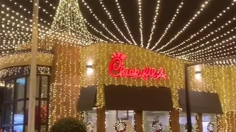 Chick-fil-A Christmas Lights