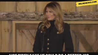 First Lady Melania Trump Roasts Joe Biden