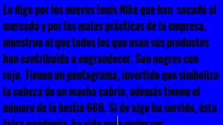 La verdad sobre Nike, es una empresa satánica