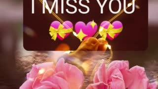 I really miss you 😘