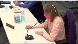 Teachers Union Rep Fights to Breathe Through Mask While Defending Masks