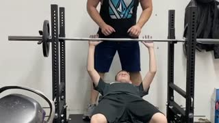 13 year olds first time 115 pounds for reps