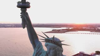 Statue Of Liberty 4k Drone Amazing Footage